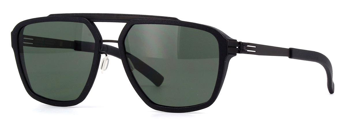 Купить Солнцезащитные очки Ic Berlin IB Dystopia Black Green Polarized Plotic-Vario