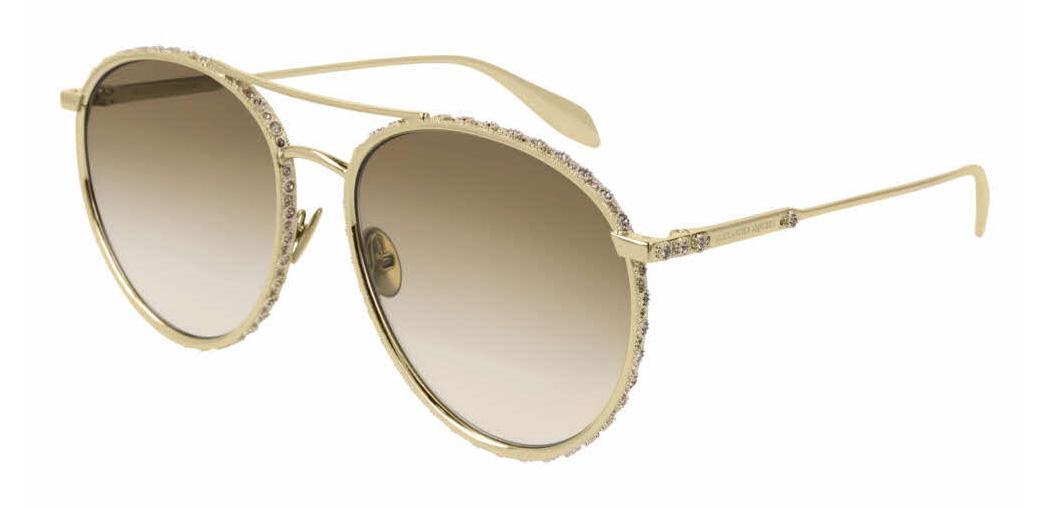 Солнцезащитные очки Alexander McQueen AM 0179S 003  - купить со скидкой