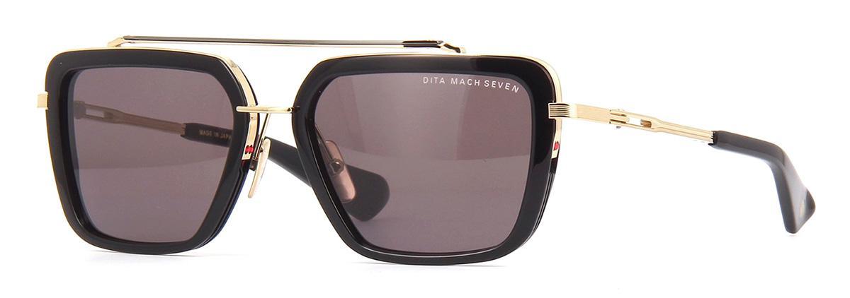 Купить Солнцезащитные очки Dita Mach Seven DTS 135-56-01 Black-White Gold-Black Rhodium w/Dark Grey