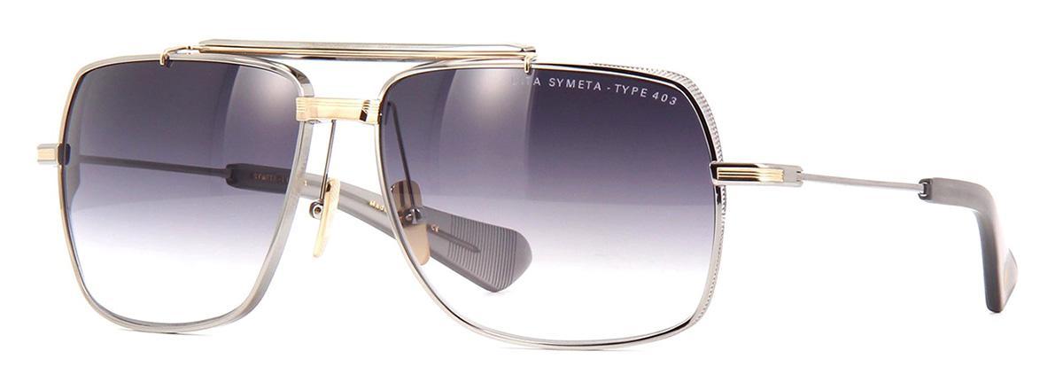 Купить Солнцезащитные очки Dita Symeta Type 403 DTS 126-62-01 Black Palladium-White Gold w/Dark Grey to Clear-AR