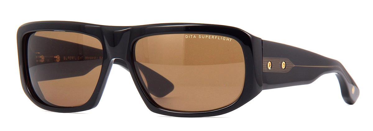 Купить Солнцезащитные очки Dita Superflight DTS 133-61-01 Black-Yellow Gold w/Dark Brown to Clear