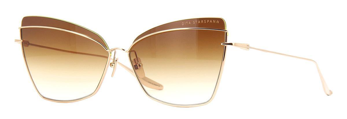 Солнцезащитные очки Dita Starspann DTS 531-61-01 White Gold w/Dark Brown to Clear  - купить со скидкой