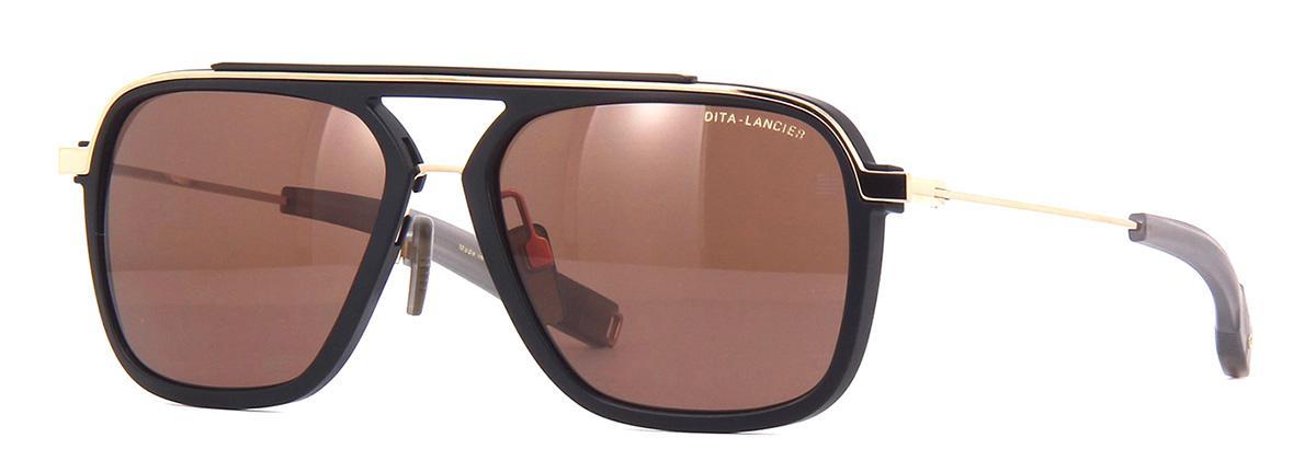 Купить Солнцезащитные очки Dita LSA-400 DLS 400-57-01 Matte Black-White Gold Brown Polar