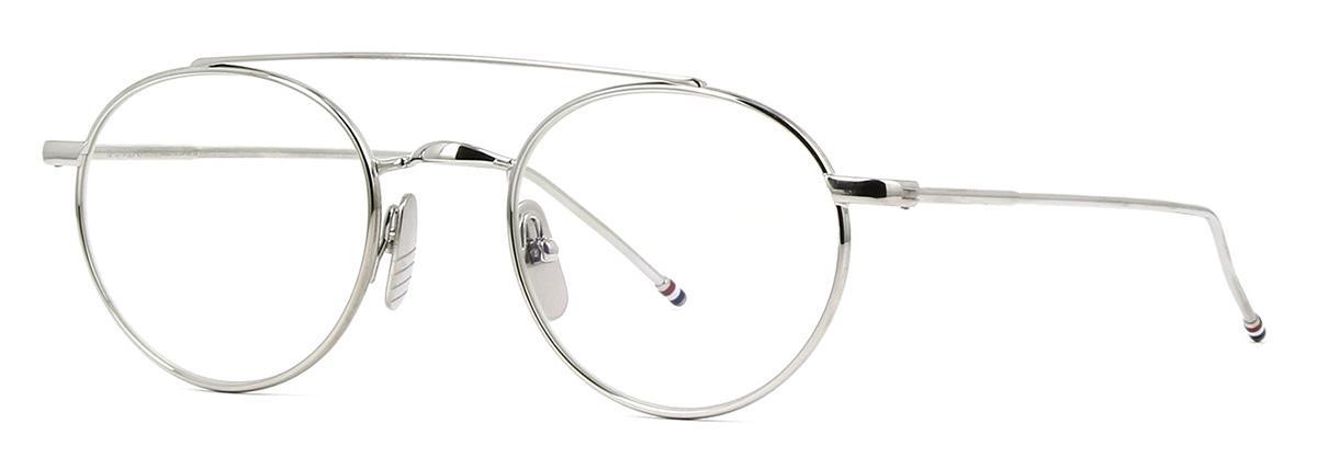 Купить Оправа Thom Browne TB 101-A-SLV 49 Shiny Silver w/Clear-AR, Оправы для очков
