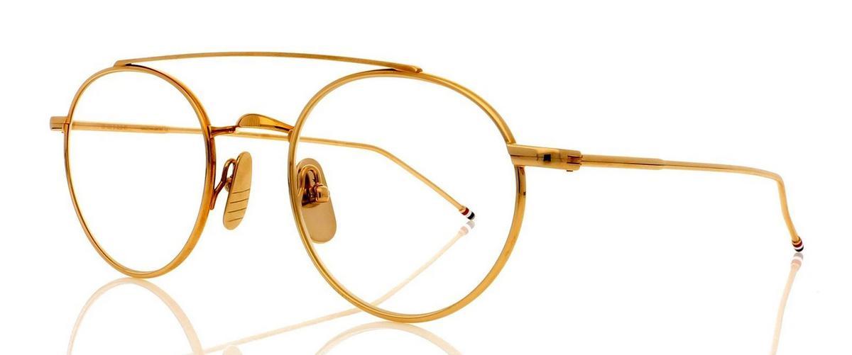 Оправа Thom Browne TB 101-B-GLD 49 Shiny 12K Gold w/Clear-AR, Оправы для очков  - купить со скидкой