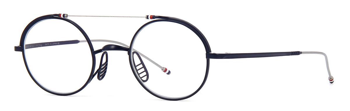Купить Оправа Thom Browne TBX 910-49-03 Matte Navy-Silver, Оправы для очков