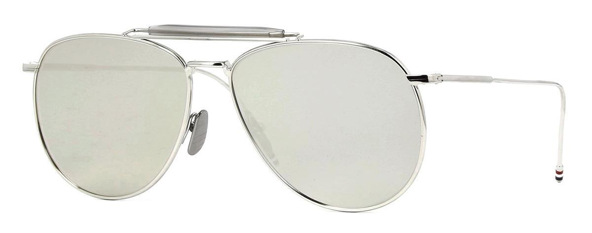 Купить Солнцезащитные очки Thom Browne TB 015-LTD-SLV 62 Silver-Grey w/Dark Grey-Mirror-AR