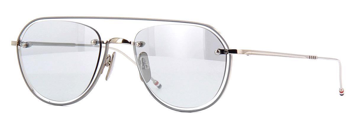 Купить Солнцезащитные очки Thom Browne TBS 112-52-01 Silver-Grey Enamel-Grey w/Medium Grey-Silver Flash-AR
