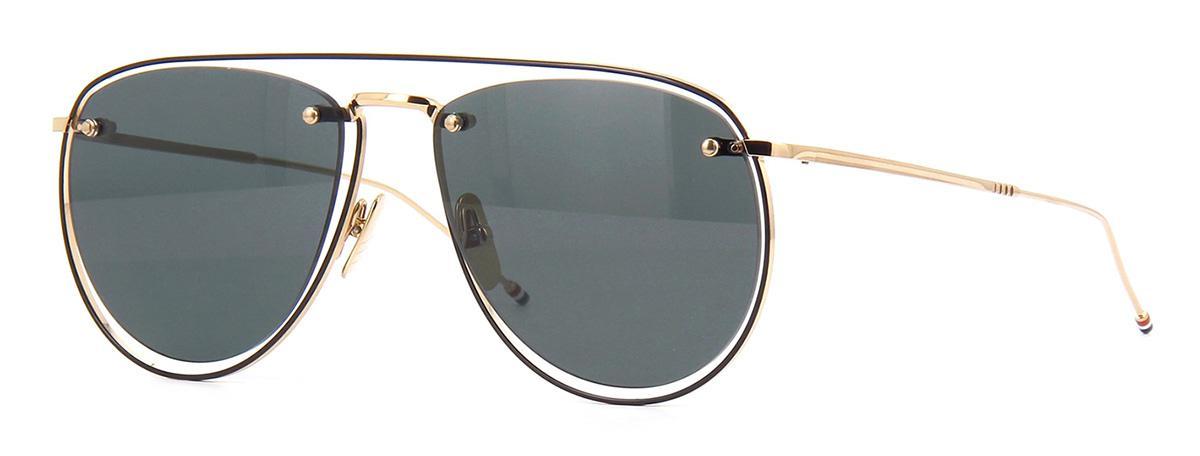 Купить Солнцезащитные очки Thom Browne TBS 113-59-02 White Gold-Black Enamel-Black Iron w/Dark Grey-AR