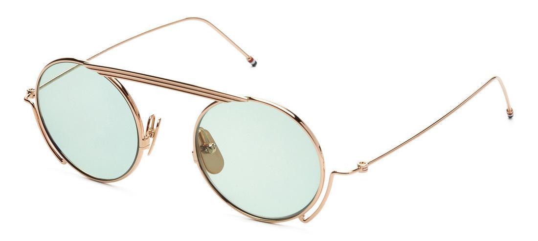 Купить Солнцезащитные очки Thom Browne TBS 111-48-01 White Gold w/Mint-AR