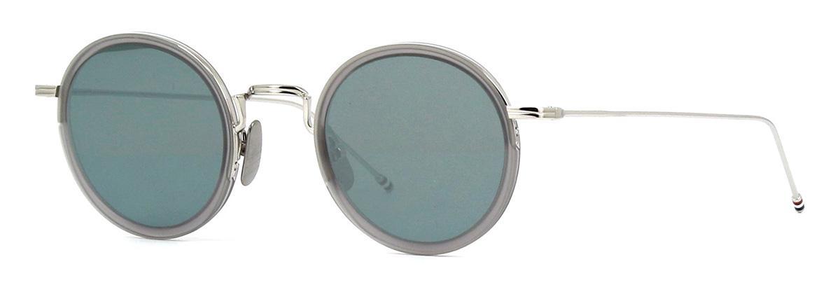 Купить Солнцезащитные очки Thom Browne TBS 906-46-03 Satin Crystal Grey-Silver w/Dark Grey-Silver Flash Mirror-AR