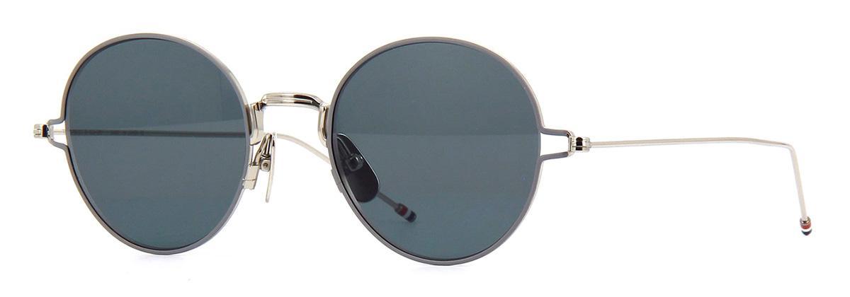 Купить Солнцезащитные очки Thom Browne TBS 915-50-01 Silver-Grey Enamel w/Dark Grey