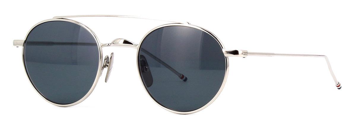 Купить Солнцезащитные очки Thom Browne TB 101-A-T-SLV 49 Shiny Silver w/Dark Grey-AR