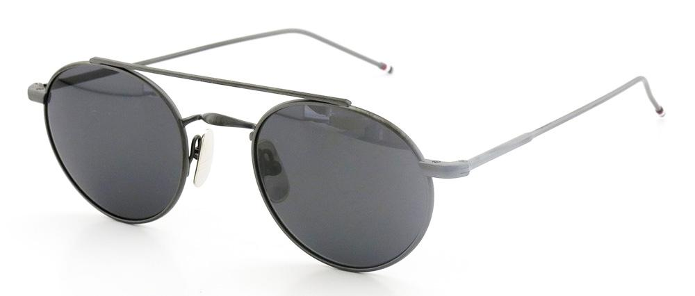 Купить Солнцезащитные очки Thom Browne TB 101-C-T-BLK 49 Black Iron w/Dark Grey-AR