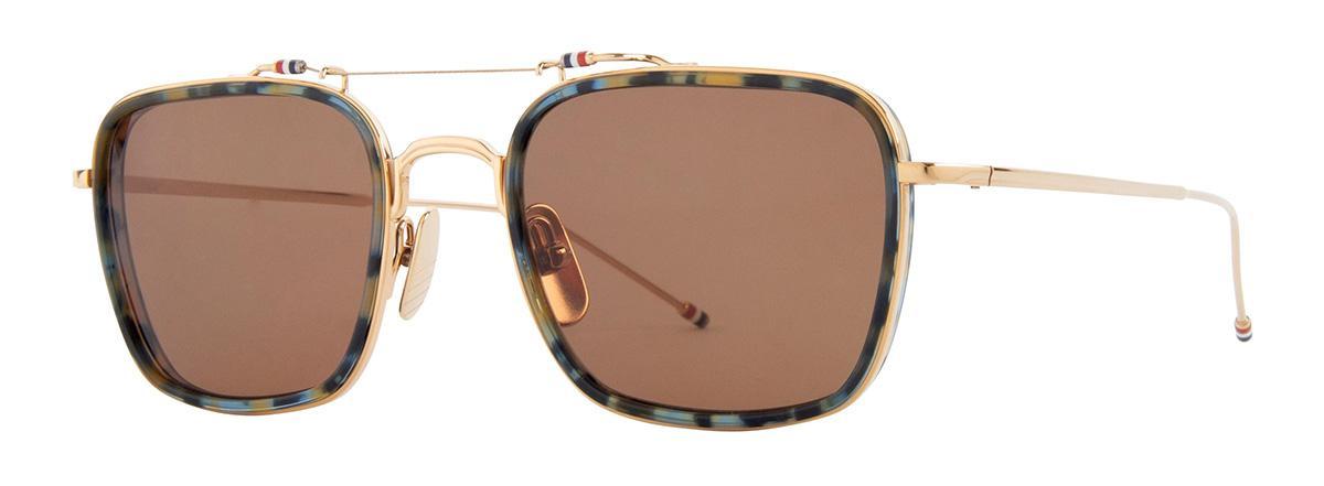 Купить Солнцезащитные очки Thom Browne TBS 816-53-02 Navy Tortoise-White Gold w/Dark Brown