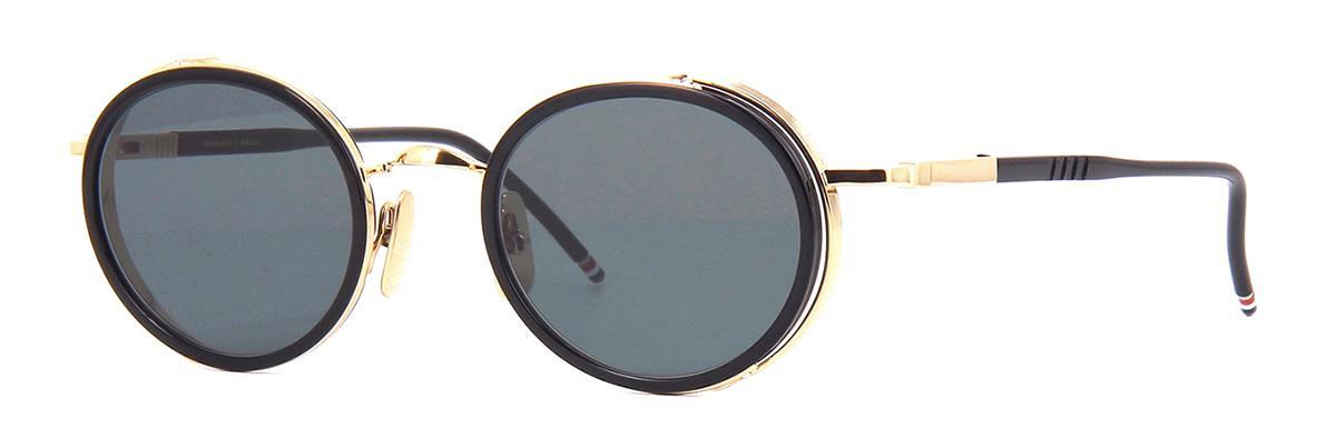 Купить Солнцезащитные очки Thom Browne TBS 813-49-01 Black-White Gold w/Dark Grey-AR