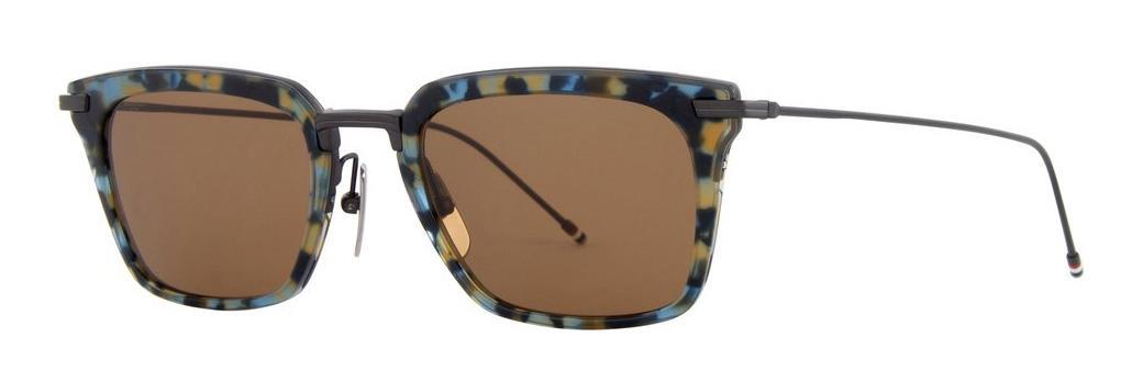 Купить Солнцезащитные очки Thom Browne TBS 916-51-02 Navy Tortoise-Black Iron w/Dark Brown