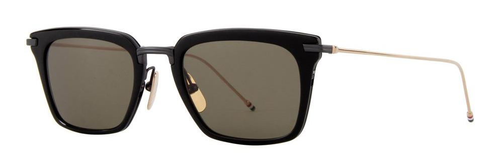 Купить Солнцезащитные очки Thom Browne TBS 916-51-01 Black-Black Iron-White Gold Temples w/G-15