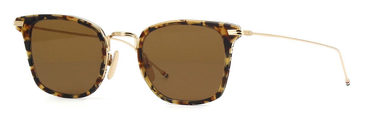 Купить Солнцезащитные очки Thom Browne TBS 905-49-02 Tokyo Tortoise-White Gold w/Dark Brown-AR