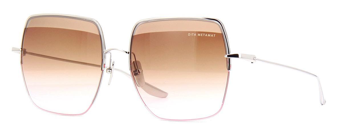 Купить Солнцезащитные очки Dita Metamat DTS 526-59-01 Silver Dark Brown to Pink-AR