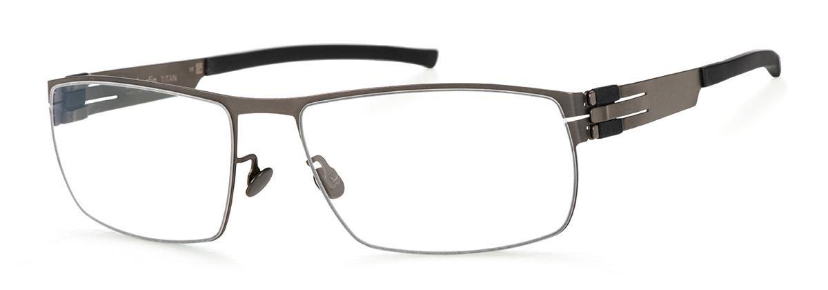 Купить Оправа Ic Berlin IB T105 Slate Black RX-Clear Flex, Оправы для очков