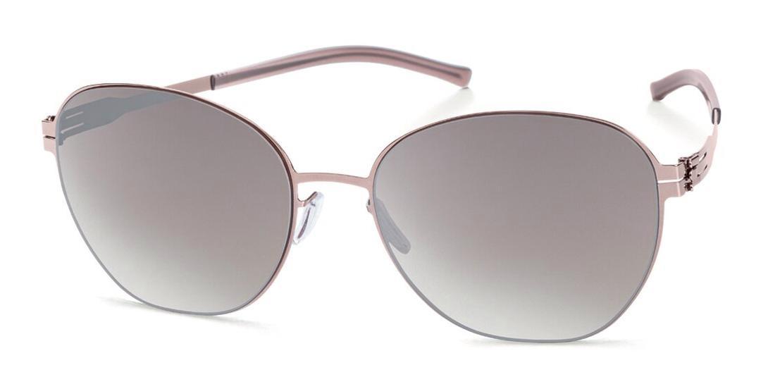 Купить Солнцезащитные очки Ic Berlin IB Judith W Shiny Bronze Walnut Brown-Sand Mirrored Freitag