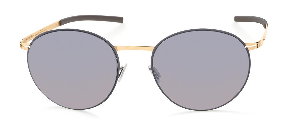 Солнцезащитные очки Ic Berlin IB Pampeo Bouldergold Circle Rose-Gold Warm Grey Quicksilver Flex  - купить со скидкой