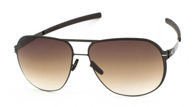 Купить Солнцезащитные очки Ic Berlin IB Guenther N.0077 Gunmetal Brown/Sand Nylon