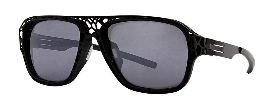 Купить Солнцезащитные очки Ic Berlin IB I See Exoskeleton Black Frozen Mirrored Grey Plotick Flex