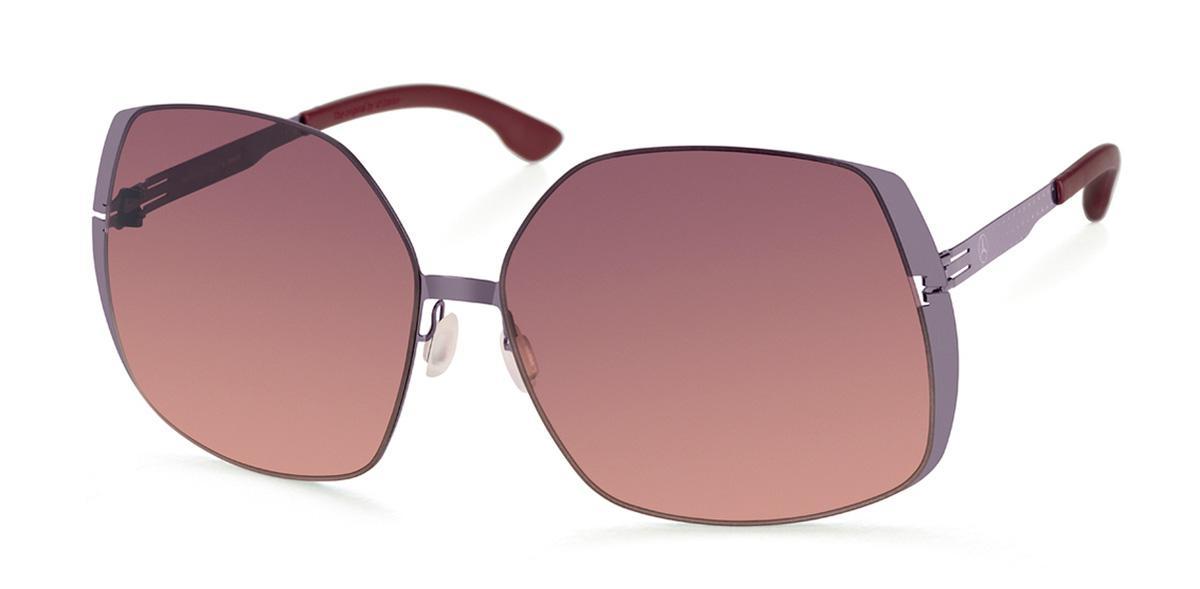 Купить Солнцезащитные очки Ic Berlin IB MB 06 Aubergine Dark-Red Sunset Boulevard Donnerstag