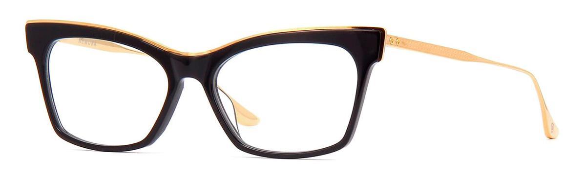 Купить Оправа Dita Nemora DTX 401-A-01 Black-Yellow Gold w/Clear, Оправы для очков