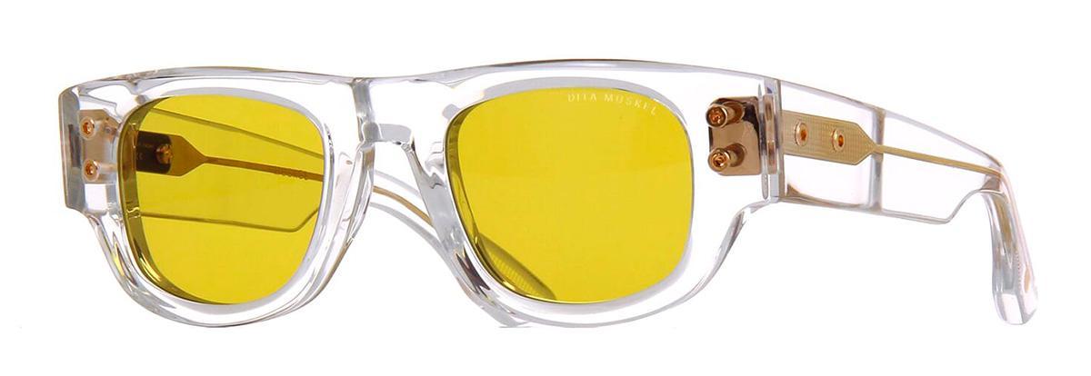 Купить Солнцезащитные очки Dita Muskel DTS 701-A-03 Crystal-Yellow Gold w/Golden Amber
