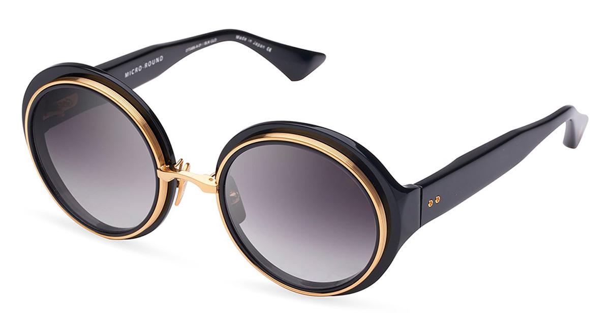 Купить Солнцезащитные очки Dita Micro-Round DTS 406-A-01 Black-Yellow Gold w/Dark Grey to Clear Gradient