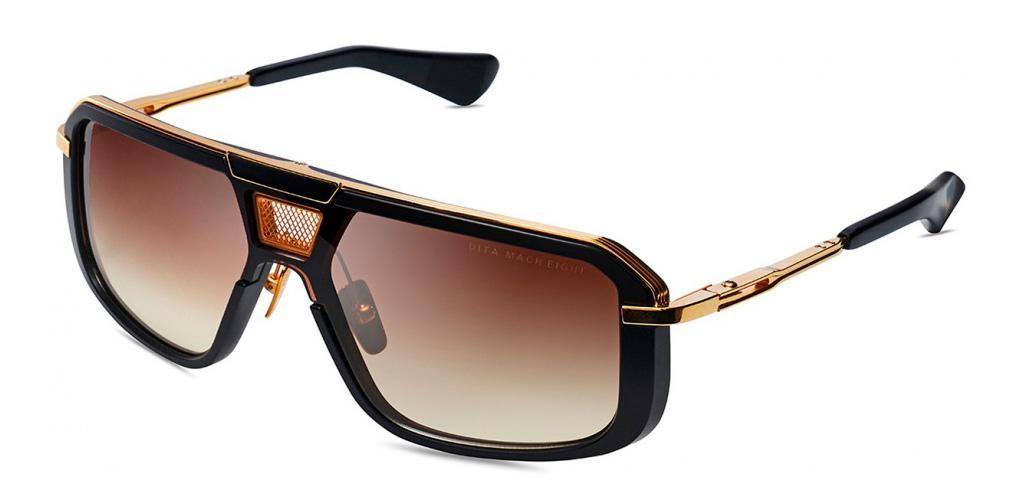 Купить Солнцезащитные очки Dita Mach Eight DTS 400-A-01 Matte Black-Yellow Gold Brown to Clear