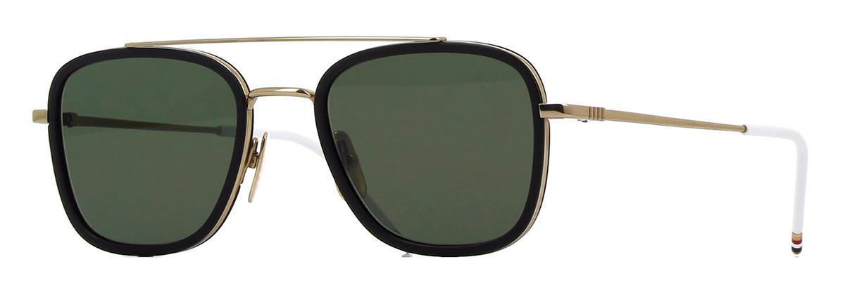 Солнцезащитные очки Thom Browne TB 800-A-GLD-BLK 51 Shiny 12K Gold-Matte Black w/Dark Grey-AR  - купить со скидкой