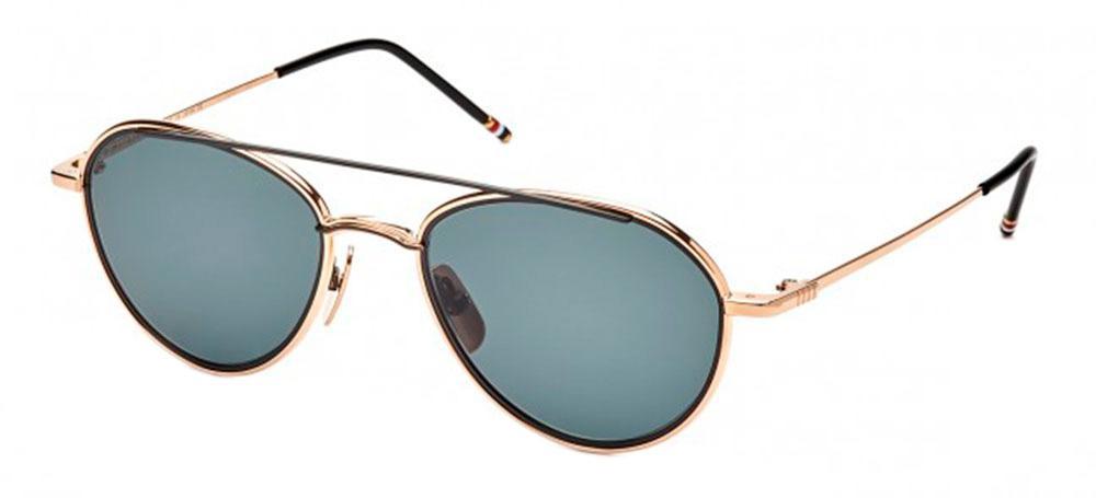 Купить Солнцезащитные очки Thom Browne TB 109-A-T-GLD-BLK 53 White Gold-Black Iron w/Dark Grey-AR