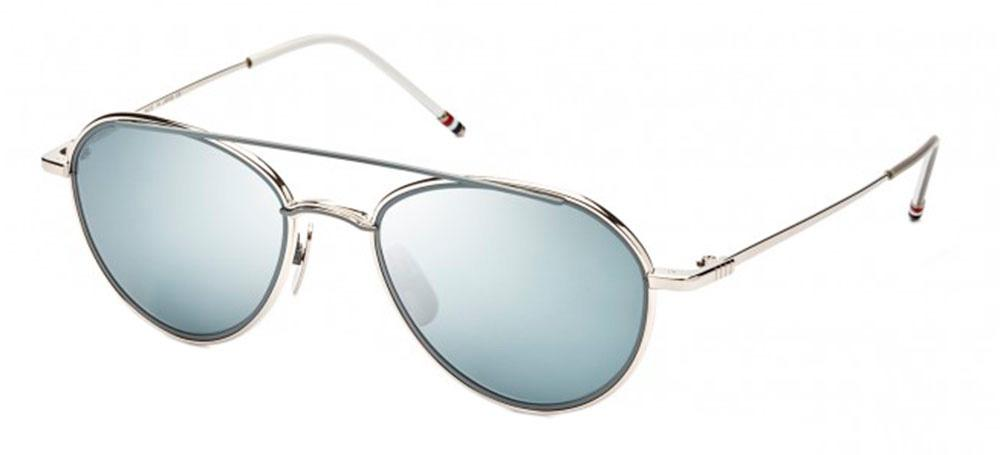 Купить Солнцезащитные очки Thom Browne TB 109-B-T-SLV-GRY 53 Silver-Matte Grey w/Dark Grey-Silver Mirror-AR
