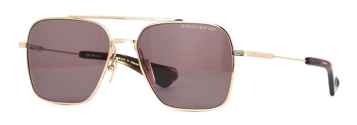 Купить Солнцезащитные очки Dita Flight Seven DTS 111-57-02 White Gold w/Dark Grey-AR
