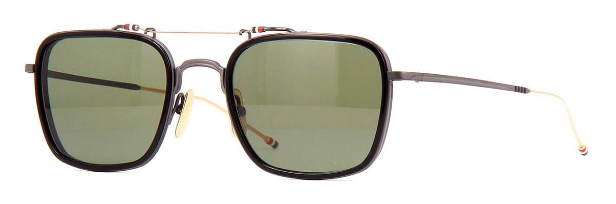 Купить Солнцезащитные очки Thom Browne TBS 816-53-01 Black-Black Iron-White Gold Temple w/G-15
