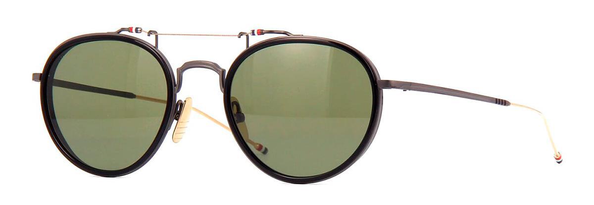 Купить Солнцезащитные очки Thom Browne TBS 815-53-01 Black-Black Iron-White Gold w/G-15